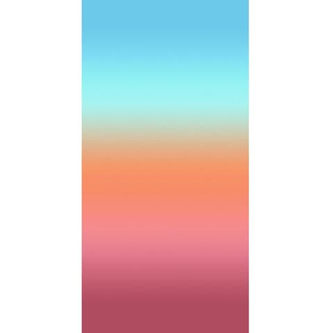 Pastel Gradient Stripes 30x60 Brazilian Velour Beach Towel