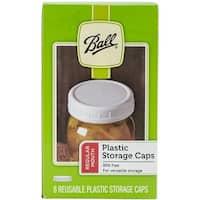 Regular Mouth - Ball Plastic Storage Caps 8/Pkg