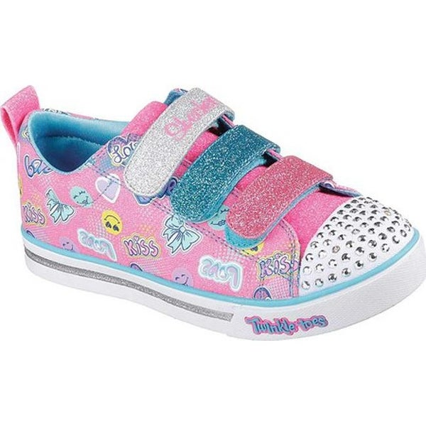 fae34993b660 Shop Skechers Girls  Twinkle Toes Shuffles Sparkle Glitz Light Up Shoe Hot  Pink Multi - Free Shipping On Orders Over  45 - Overstock - 21555940