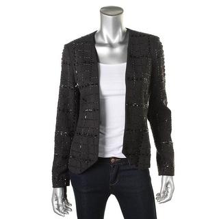 MICHAEL Michael Kors Womens Embellished Long Sleeves Collarless Blazer - 6