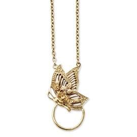 Goldtone Butterfly Eyewear Holder Necklace - 24in