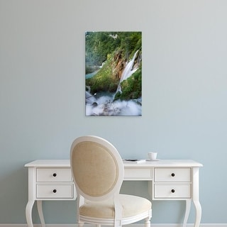 Easy Art Prints Martin Zwick's 'The Waterfalls Plunging To The River Bed Of River Korana I' Premium Canvas Art