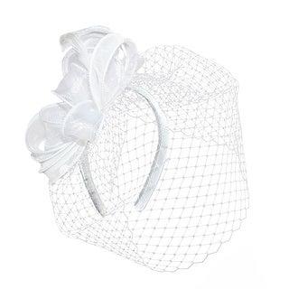 Betmar Women's Maree Bow Fascinator Headband with Peekaboo Netting