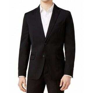 American Rag NEW Solid Deep Black Mens Size XL Two Button Blazer