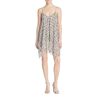 Likely Womens Slip Dress Asymmetric Printed