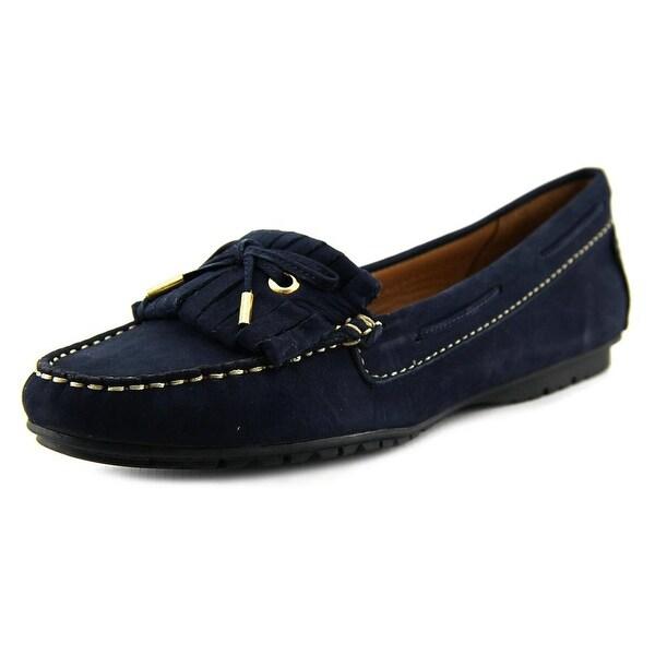 Sebago Meridian Kiltie Women Round Toe Suede Blue Loafer