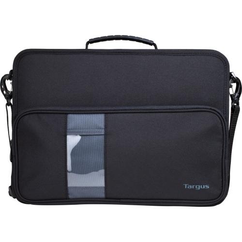 """Targus TKC002 Targus TKC002 Carrying Case (Briefcase) for 14"" Notebook - Black, Gray - Dust Resistant Interior, Scratch"