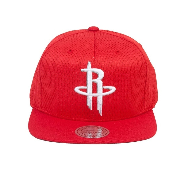 online store df560 65e40 Mitchell  amp  Ness Houston Rockets Jersey Mesh Snapback