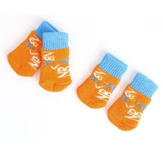 Outdoor Walking Acrylic Pet Puppy Dog Breathable Anti-slip Elastic Socks 2 Pair
