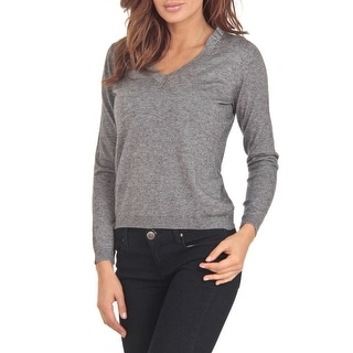 Link to Cashmere Company COLLO V GG Grey Cashmere Blend Womens Sweater - EU=48/L Similar Items in Women's Designer Clothing