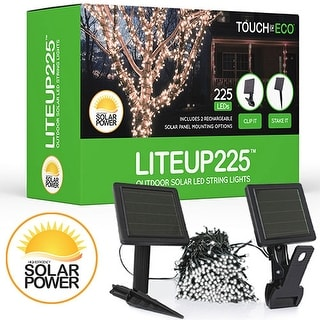 LITEUP225 Solar String Lights 225 count for Holiday or Party Outdoor lights