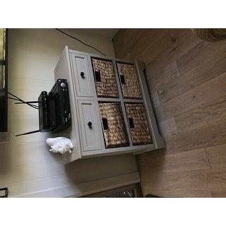 Safavieh Cape Cod 6-Drawer Grey Side Storage Table