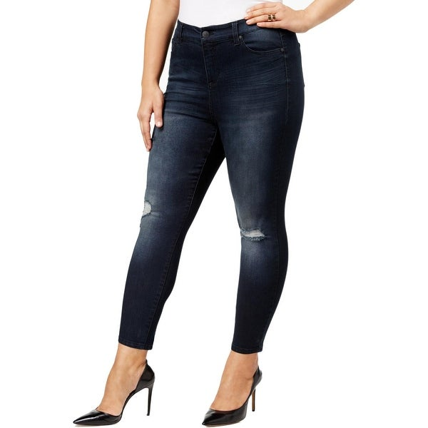 db92ede5361 Shop Celebrity Pink Womens Juniors Skinny Jeans Ankle Distressed - Free  Shipping On Orders Over $45 - Overstock - 25088400
