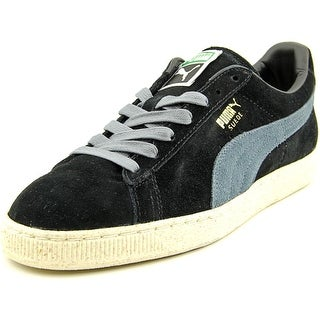Puma Suede Classic Natural Charm Men  Round Toe Suede Black Tennis Shoe