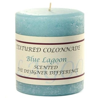 1 Pc Textured 3x3 Blue Lagoon Pillar Candles 3 in. diameterx3.25 in. tall