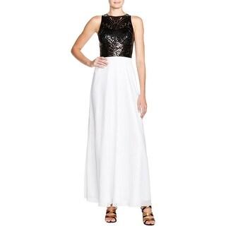 JS Collections Womens Evening Dress Sequined Sleeveless