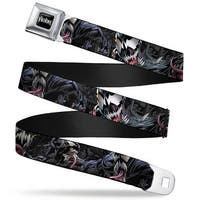 Marvel Universe Venom Full Color Black White Venom Poses Close Up Webbing Seatbelt Belt