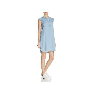 Splendid Womens Casual Dress Henley Cap Sleeve