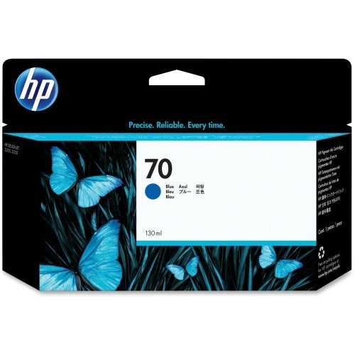 HP 70 130-ml Blue DesignJet Ink Cartridge (C9458A) (Single Pack)