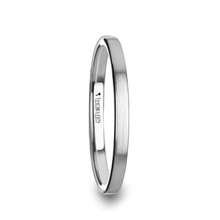 TILLY Flat Style Womens Tungsten Carbide Ring with Brushed Finish - 2 mm