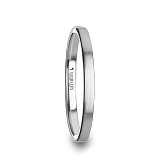 THORSTEN - TILLY Flat Style Womens Tungsten Carbide Ring with Brushed Finish - 2 mm