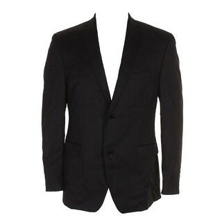 Alfani Mens Black Traveler Slim-Fit Single Breasted Notched Lapel Blazer 40R