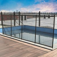 Costway 4'x48' In-Ground Swimming Pool Safety Fence Section 4 Set 4'x12'