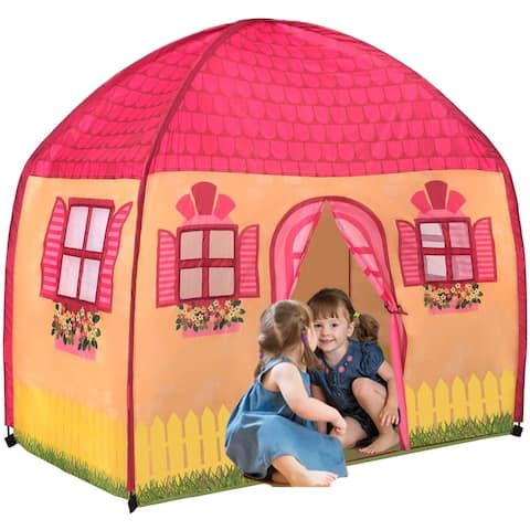 Toysical Play Tent for Girls-Indoor Playhouse - 1-2-3 Assembly 3-6 yr.