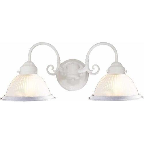 "Volume Lighting V4702 2 Light 21"" Width Bathroom Vanity Light with Clear Ribbed"