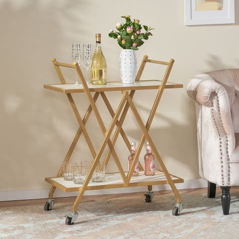 Chaves Marble Bar Cart by Christopher Knight Home