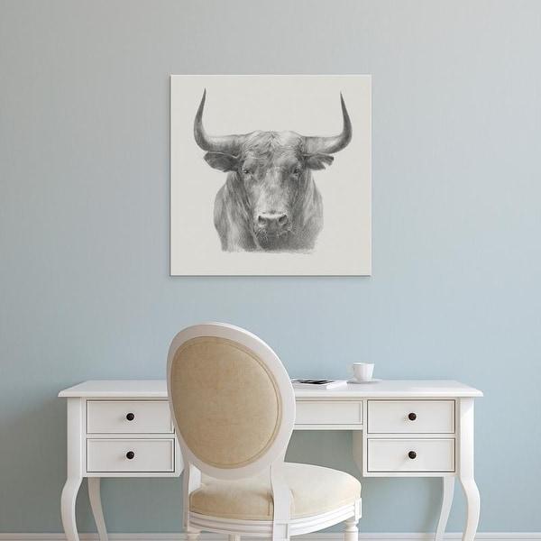 Easy Art Prints Ethan Harper's 'Black Bull' Premium Canvas Art