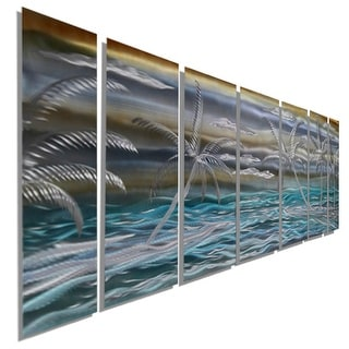 Statements2000 Tropical Metal Wall Art Panels Beach Ocean Decor Painting by Jon Allen - Tropical Paradise