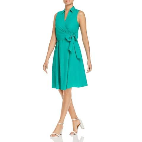Le Gali Womens Ryan Wrap Dress Faux-Wrap Sleeveless