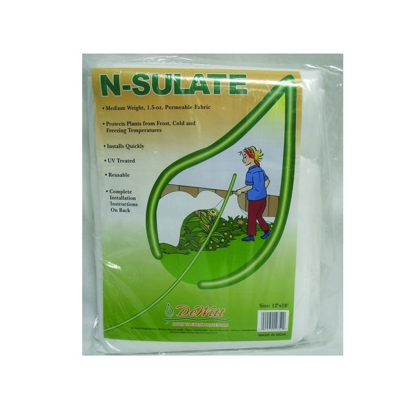 Dewitt NS12 N-Sulate Plant Protection Fabric, 12' x 10'