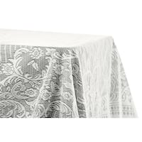 """Quaker Lace Table Overlay Topper 60""""x120"""" rectangular - Ivory"""