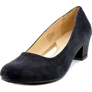 Ivanka Trump Cara Sparkle Round Toe Synthetic Heels