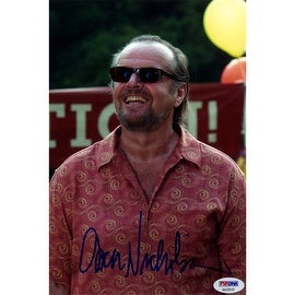 Jack Nicholson Signed Smiling In Red Shirt With Sunglasses On 8x10 Photo ()