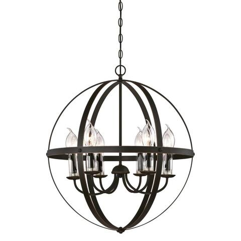 """Westinghouse 6339000 Stella Mira 6 Light 24"""" Wide Outdoor Wrought Iron - Oil Rubbed Bronze"""