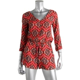 Ella Moss Womens Printed 3/4 Sleeves Romper