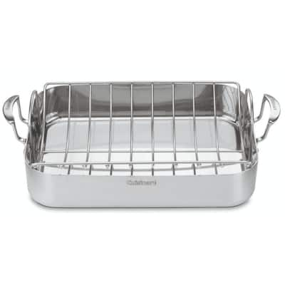 Cuisinart MultiClad Pro Stainless 16-inch Roaster with Rack