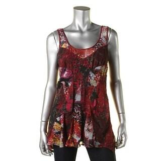 Diane Von Furstenberg Womens Silk Printed Tank Top - 8