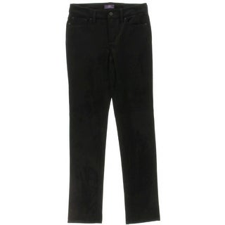 NYDJ Womens Sheri Dress Pants Faux Suede Slimming Fit