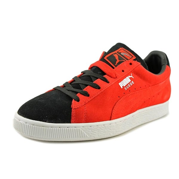 Puma Suede Classic+ Men Round Toe Suede Red Sneakers
