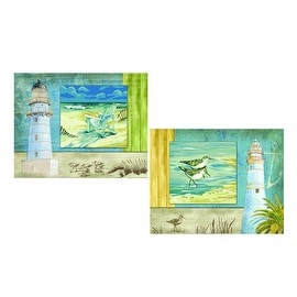 Plaid 21725 Paint By Number Studio Series Kit, Beachside, 11-Inch by 14-Inch, Set of 2
