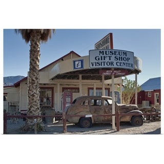 """""""Museum and gift shop in Mojave Desert"""" Poster Print"""