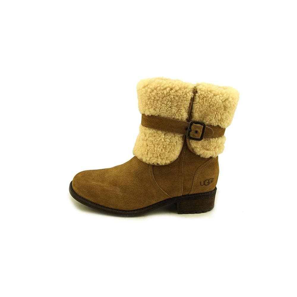 54e0ed8f008 Ugg Australia Blayre II Women Round Toe Suede Tan Winter Boot