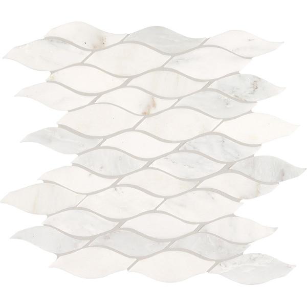 Daltile MWAVEMSL Marble Collection - Random Wave Mosaic Wall & Floor Tile - Polished Marble Visual