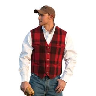 Schaefer Western Vest Mens Garrison Melton Wool Buffalo Plaid Red 810 https://ak1.ostkcdn.com/images/products/is/images/direct/1fa6b9e64d33c6cca1804db0fa8fb449cabbc9f2/Schaefer-Western-Vest-Mens-Garrison-Melton-Wool-Buffalo-Plaid-Red-810.jpg?impolicy=medium