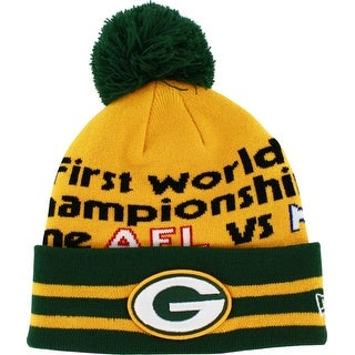 Green Bay Packers Superbowl I Knit Hat with Pom