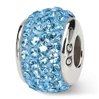 Sterling Silver Reflections March Full Swarovski Elements Bead (4mm Diameter Hole)
